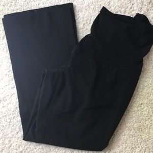 Black Over Belly Maternity Dress Pants - Petit XL
